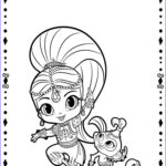 Printables Free Coloring Pages New Photos Shimmer And Shine Coloring Pages Free Printable Shimmer