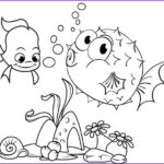 Puffer Fish Coloring Page Beautiful Images Fun Puffer Fish Surrounded By Coral Reefs Coloring Page