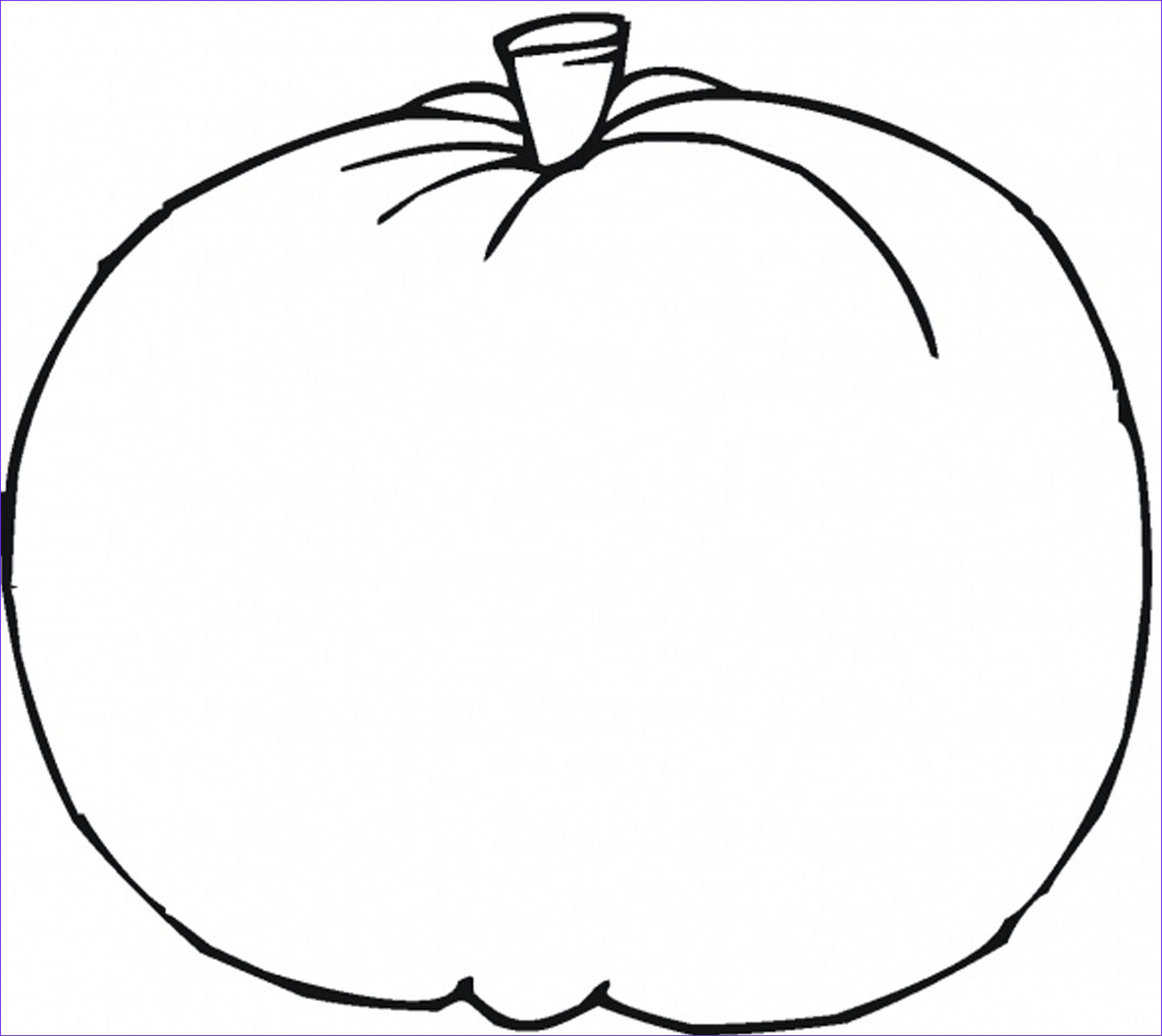 Pumpkin Coloring Pages Cool Image Blank Pumpkin Template Coloring Home
