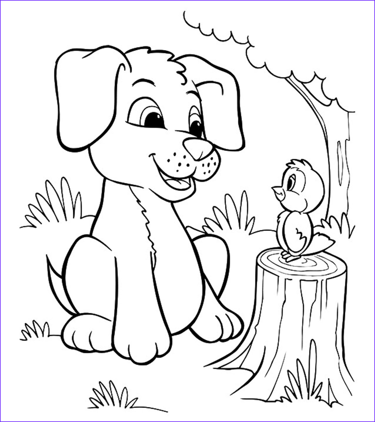 Puppy Coloring Book Beautiful Stock Animal Coloring Pages Momjunction