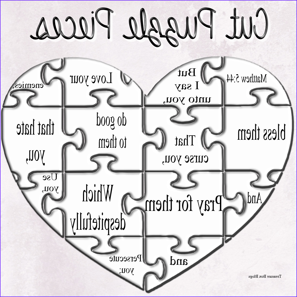 matthew 544 make your own puzzle craft