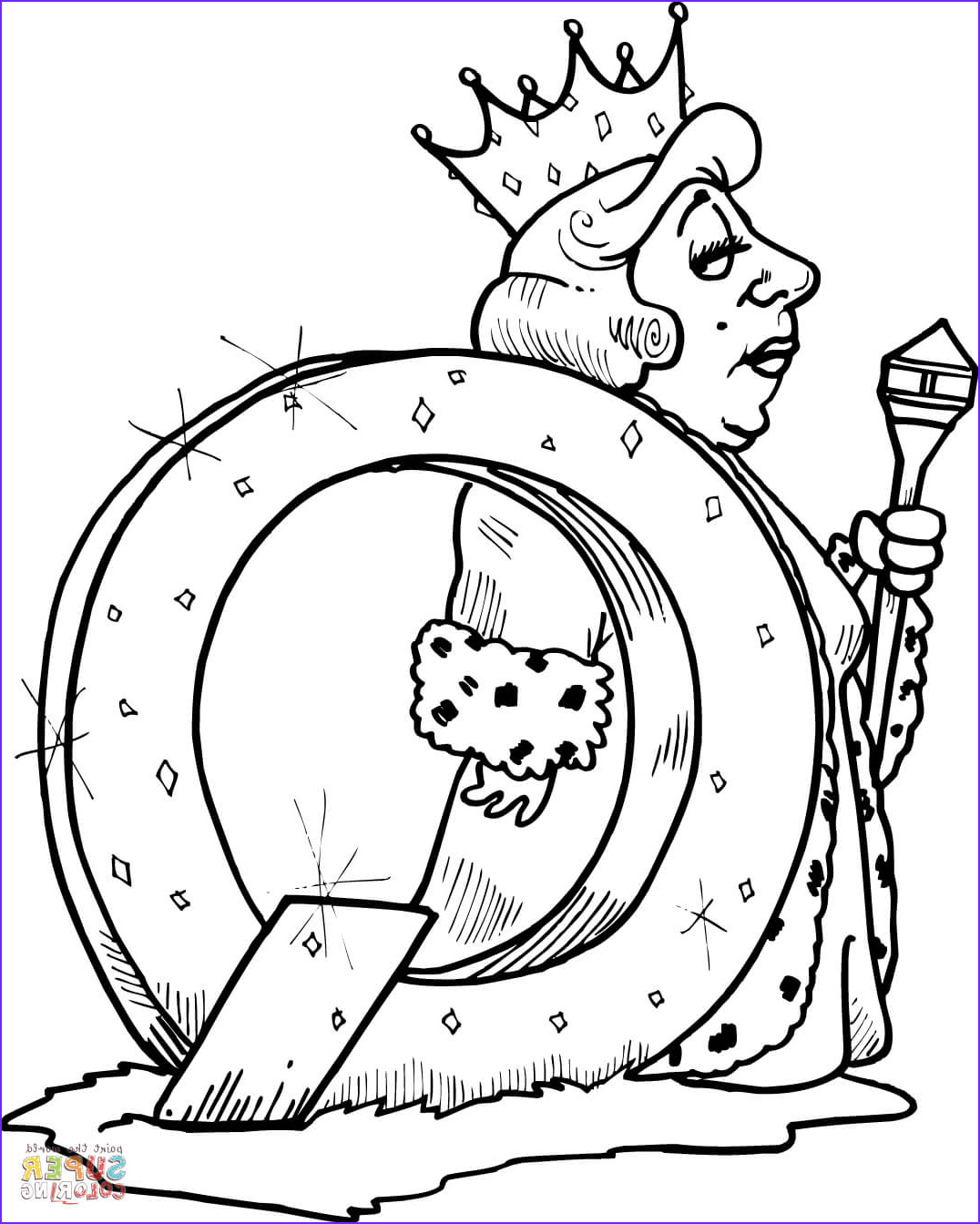 Queen Coloring Page Awesome Images Letter Q is for Queen Coloring Page