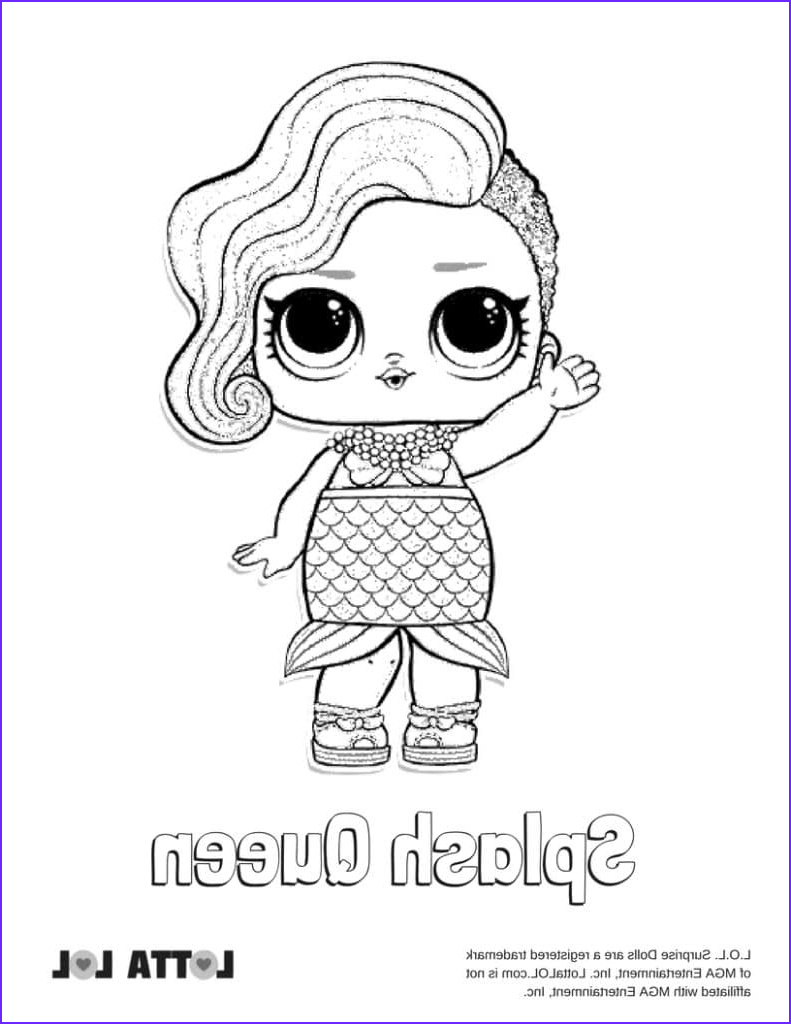 Queen Coloring Page Best Of Stock Splash Queen Lol Surprise Doll Coloring Page