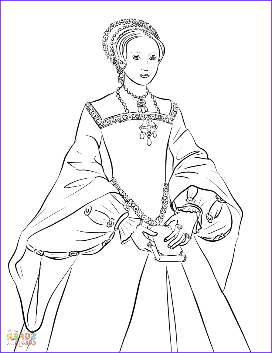 Queen Coloring Page Luxury Photography Queen Elizabeth I Coloring Page