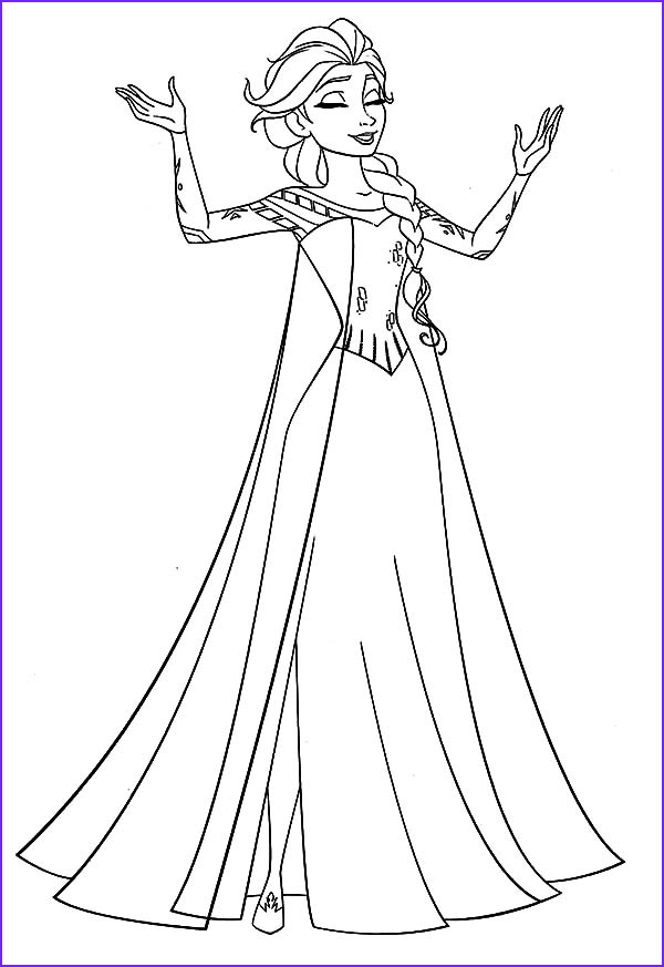 Queen Coloring Pages Luxury Photos Queen Elsa Coloring Pages for Kids