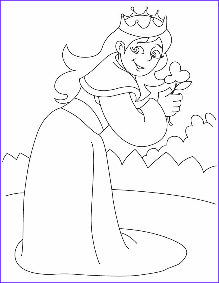 Queen Coloring Pages New Image A Queen Holding A Flower Coloring Pages
