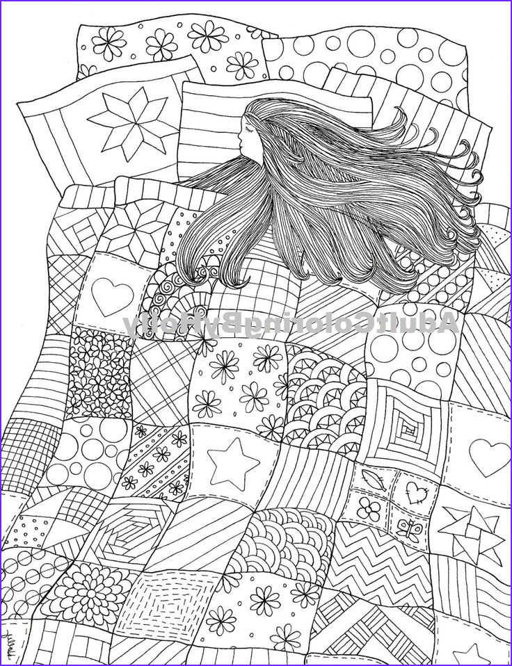 Quilters Coloring Book Cool Photos Adult Coloring Book Page Printable Digital by