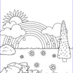 Rainbow Coloring Page Awesome Photos Get This Rainbow Coloring Pages Free Printable Jcaj22