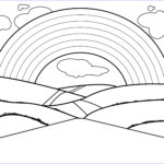 Rainbow Coloring Page Beautiful Gallery Free Printable Rainbow Coloring Pages For Kids