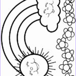Rainbow Coloring Page Beautiful Stock Rainbow Coloring Pages