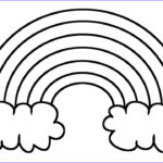 Rainbow Coloring Page Cool Image Learn Colors With Rainbow Coloring Pages Drawing For
