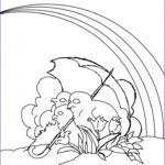 Rainbow Coloring Page Cool Photography Free Printable Rainbow Coloring Pages For Kids