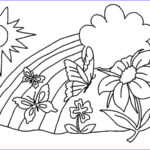 Rainbow Coloring Page Cool Stock Rainbow Coloring Pages For Childrens Printable For Free