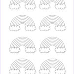 Rainbow Coloring Page Inspirational Images Cute Rainbow Patterns With Clouds Free Template You Can