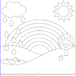 Rainbow Coloring Page New Photos Coloring Pages For Kids Rainbow Coloring Pages