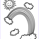 Rainbow Coloring Page Unique Collection Free Printable Rainbow Coloring Pages For Kids