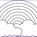 Rainbow Coloring Page Unique Gallery A Simple Drawing Of Rainbow Behind The Cloud Coloring Page