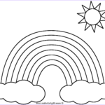Rainbows Coloring Sheets Beautiful Photos Rainbow with Clouds and Sun Coloring Page Nature