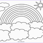 Rainbows Coloring Sheets Elegant Collection Free Printable Rainbow Coloring Pages For Kids