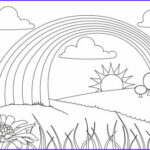 Rainbows Coloring Sheets Elegant Image Rainbow Colouring Page 2