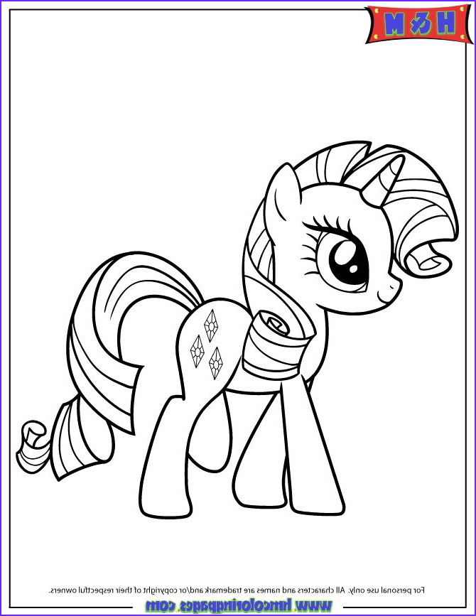 Rarity Coloring Page Awesome Collection 1000 Images About Pony On Pinterest