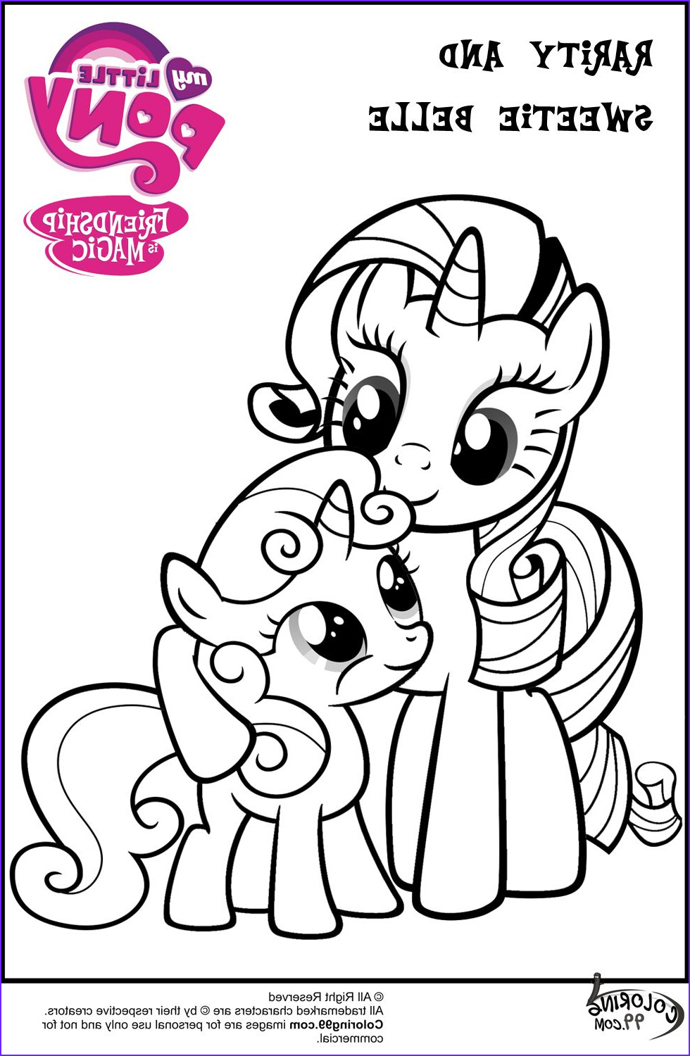 Rarity Coloring Page Awesome Photos Mlp Rarity and Sweetie Belle Coloring Pages 980×1500