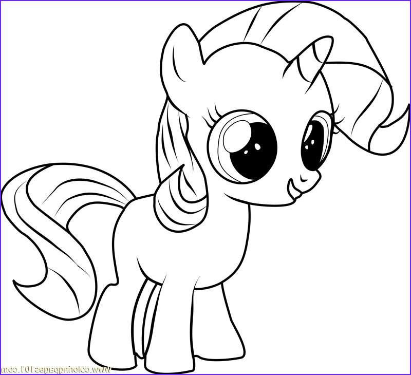 Rarity Coloring Page Cool Images Filly Rarity Coloring Page Free My Little Pony