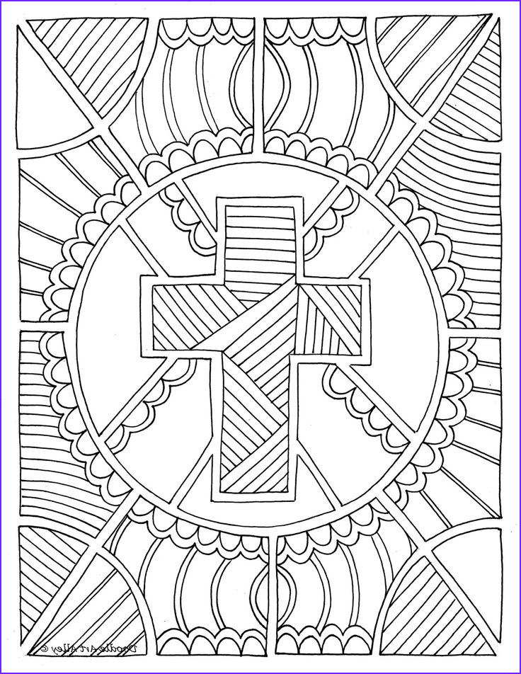 Religious Coloring Pages for Adults Elegant Image Great Christian Doodle Design