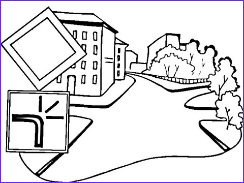 Road Signs Coloring Awesome Images Main Road Sign Coloring Page