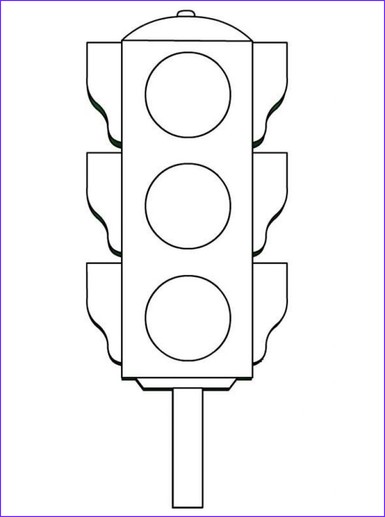 Road Signs Coloring Beautiful Photography Traffic Light Worksheets Funnycrafts Within Traffic Light