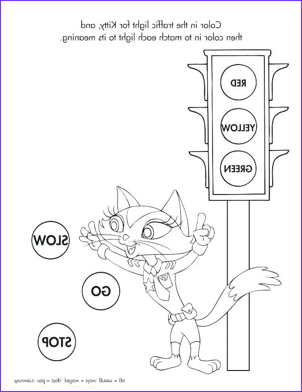 traffic signs coloring pages