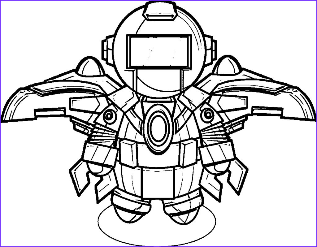 robot coloring pages