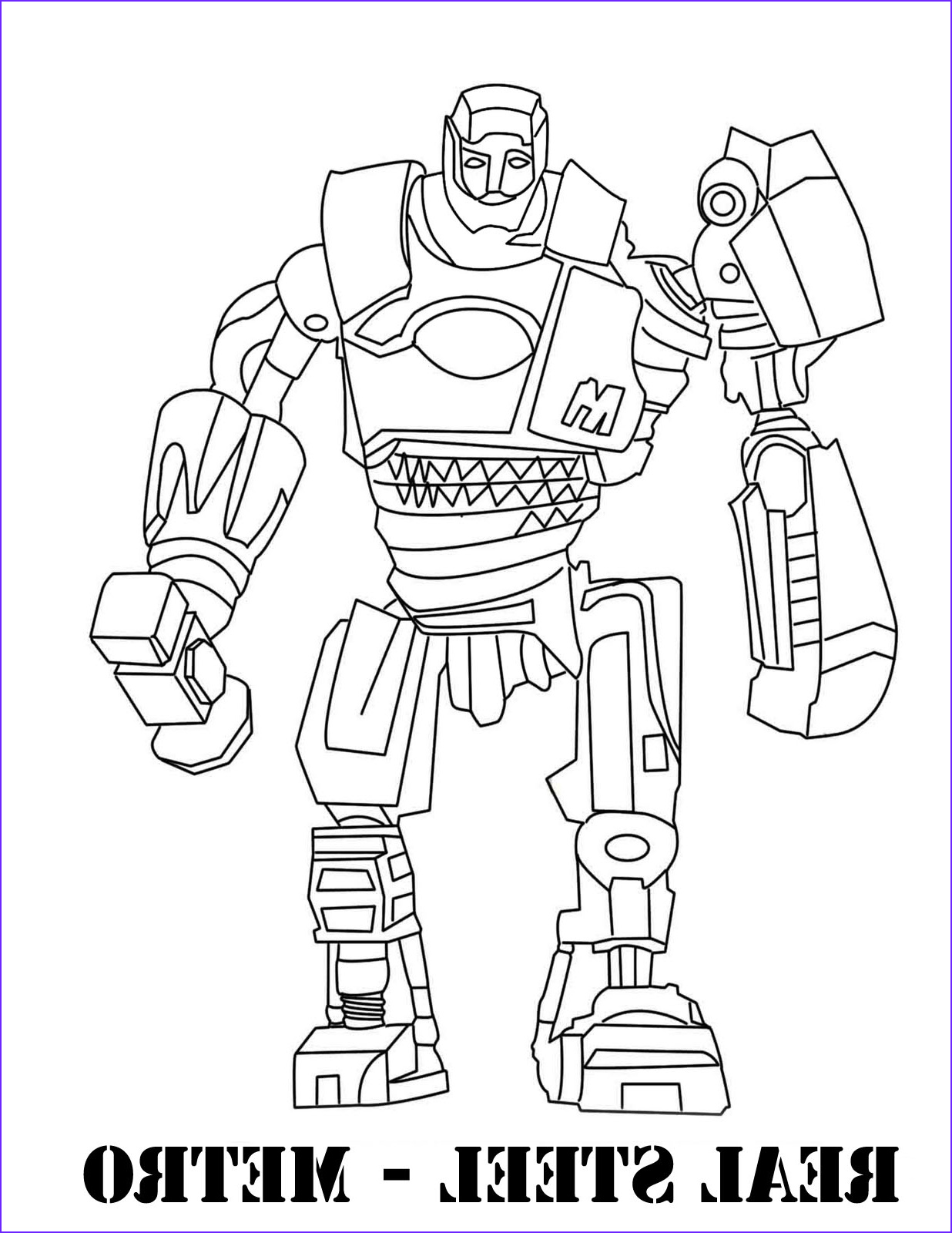 real steel coloring pages