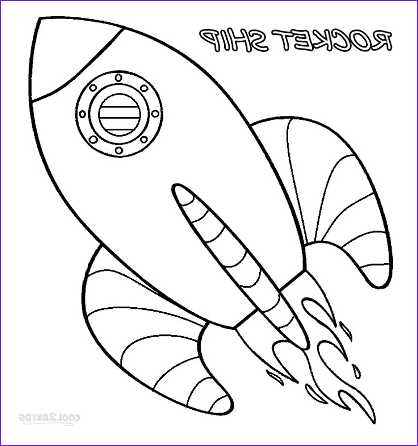 rocket ship coloring pages