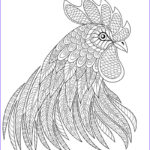 Rooster Coloring Pages Luxury Photos Rooster Head In Zentangle Style Symbol Chinese New