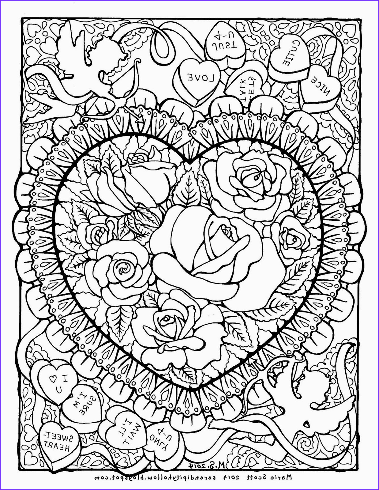 coloring book page february