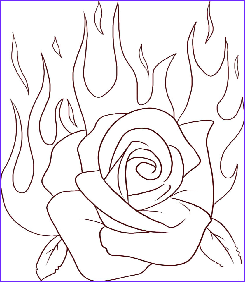 amazing of rose coloring pages with rose coloring pages