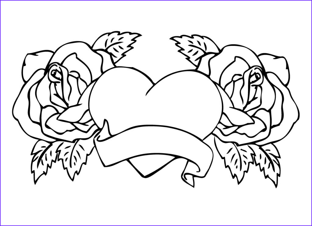 hearts and roses coloring pages coloringpages rose coloring pages for adults