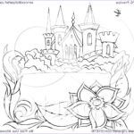 Royalty Free Coloring Pages Beautiful Stock Royalty Free Rf Clipart Illustration Of A Black And