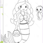 Royalty Free Coloring Pages Luxury Gallery Mermaid Coloring Page Stock Vector Illustration Of Cute