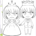 Royalty Free Coloring Pages New Collection Prince And Princess Coloring Page 2 Stock Vector