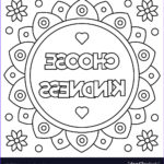Royalty Free Coloring Pages Unique Photos Choose Kindness Coloring Page Royalty Free Vector Image