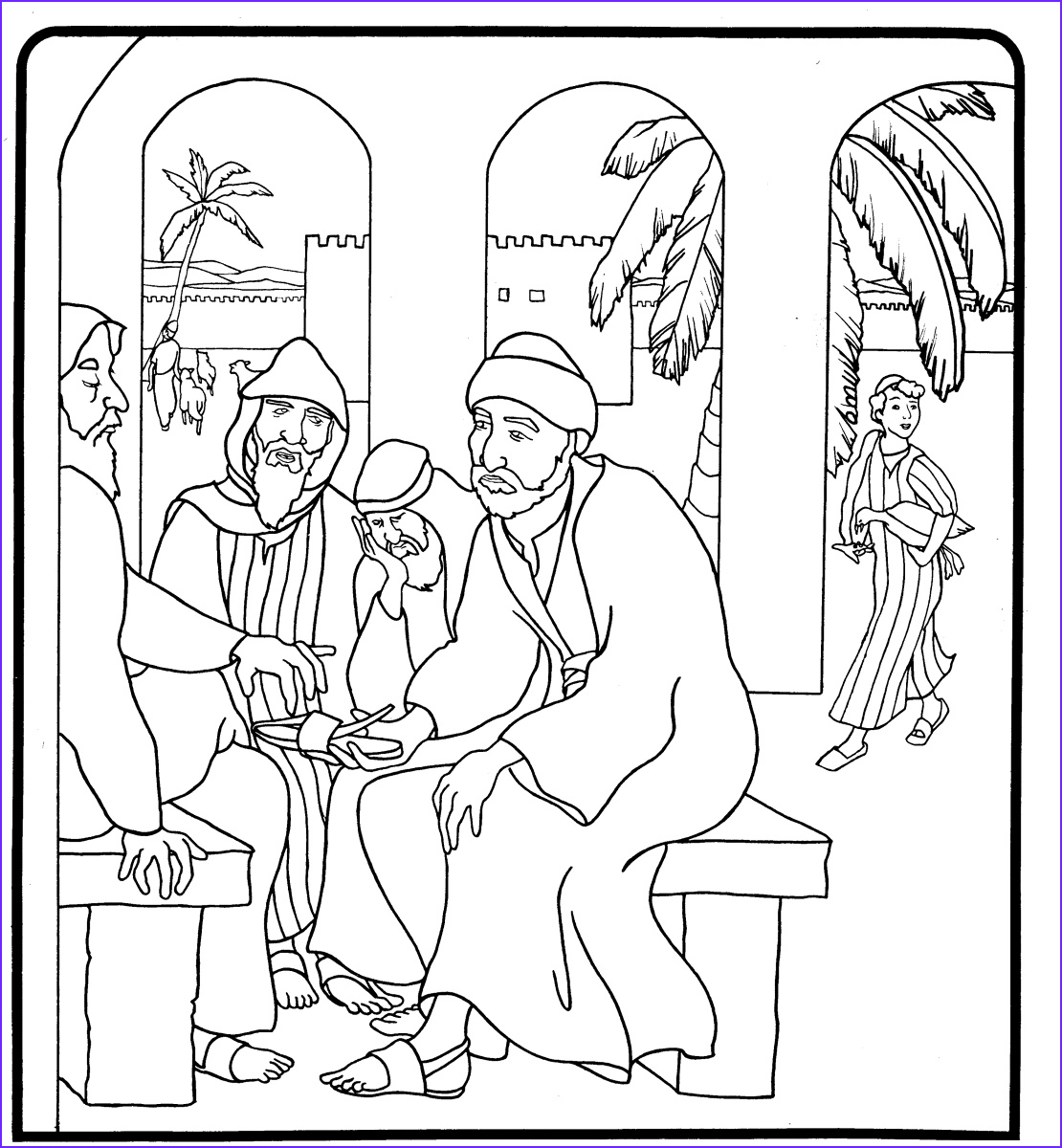 balaam and the talking donkey coloring pages
