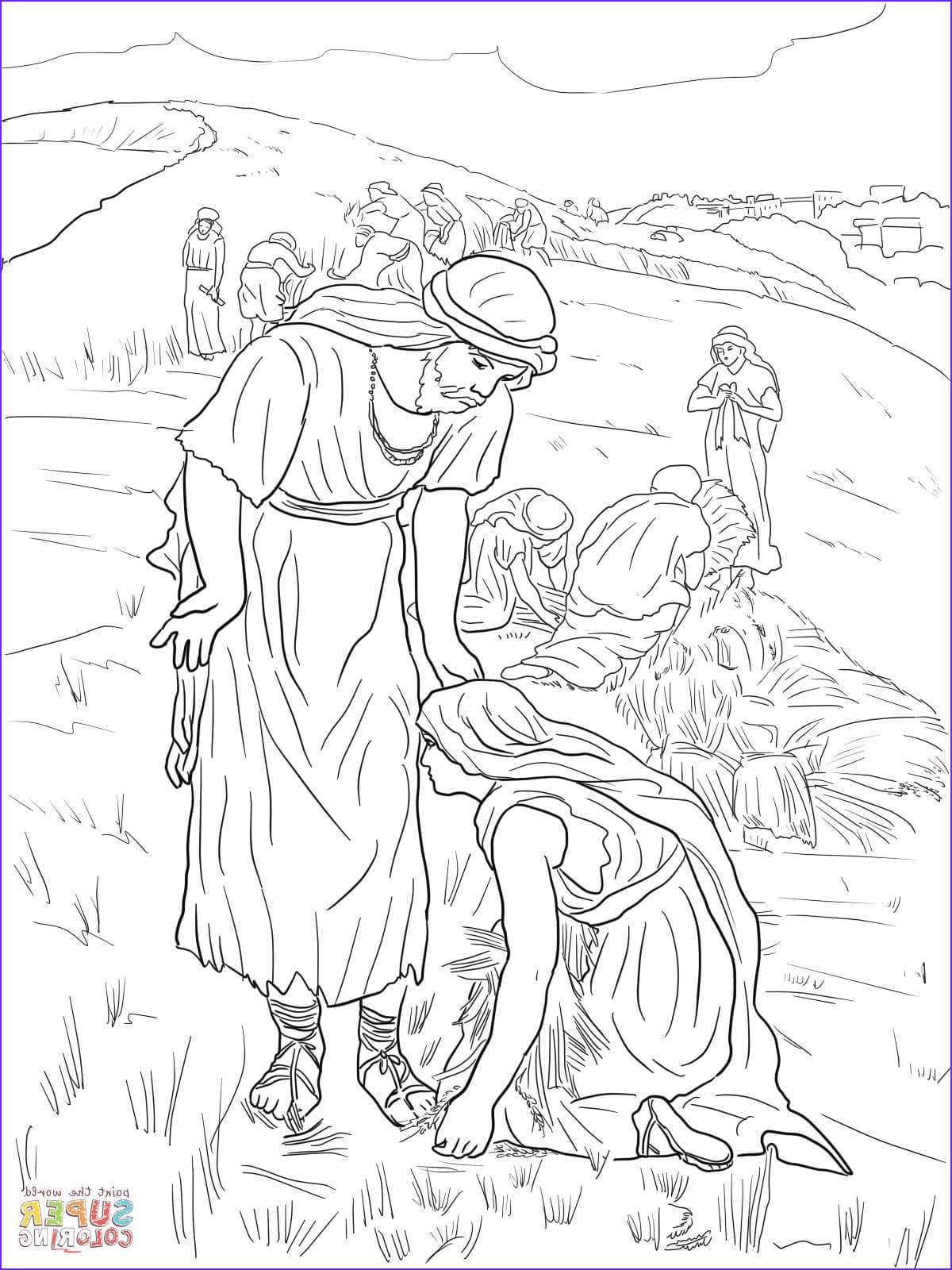 Ruth Coloring Pages Awesome Collection Boaz and Ruth Coloring Pages Coloring Home