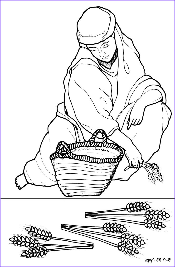 ruth and naomi coloring pages