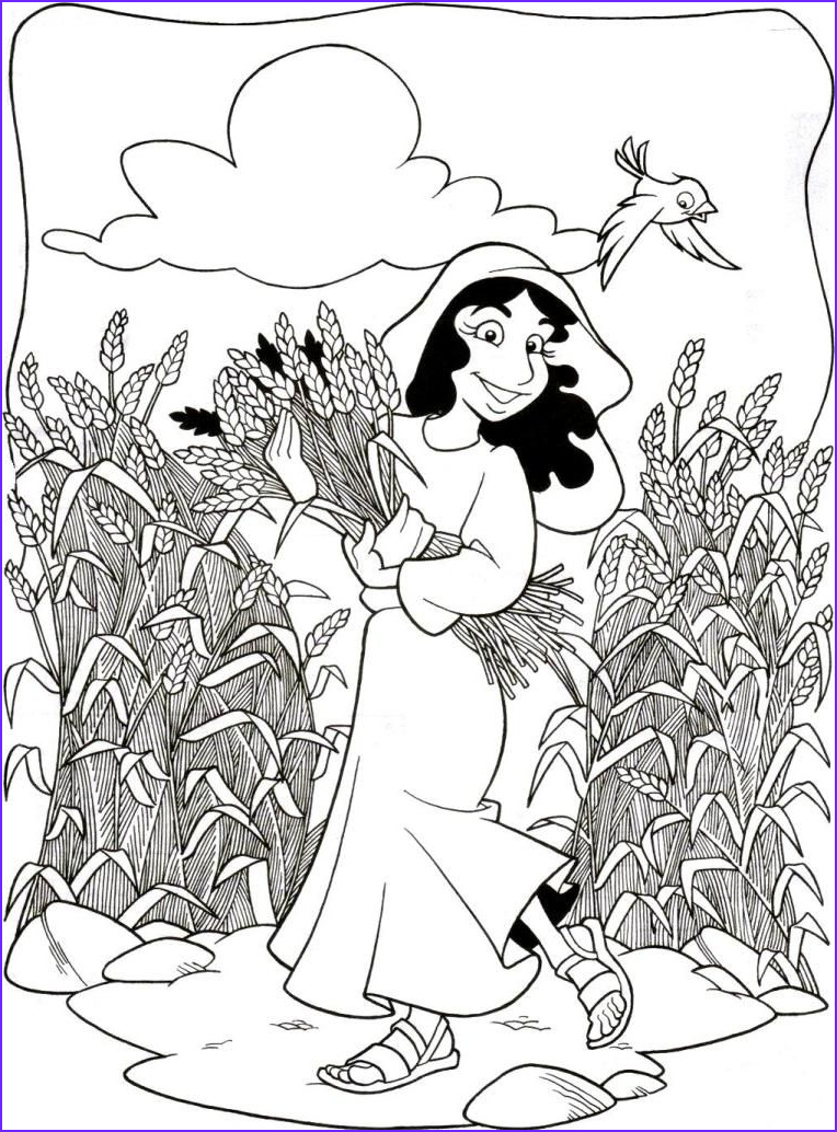Ruth Coloring Pages Beautiful Stock Coloring Pages for Children On the Story Of Ruth and Naomi