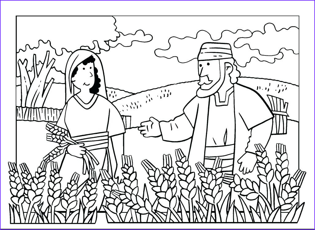 fun ruth and boaz coloring pages naomi page info colouring color