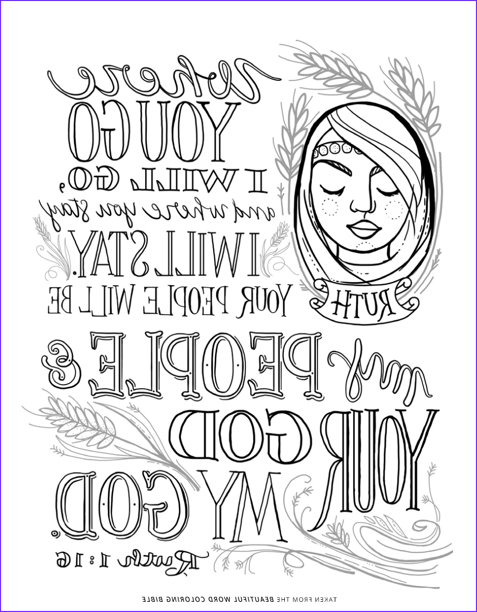 Ruth Coloring Pages New Image Beautiful Word Coloring Bible Sheet Ruth 1 16 Niv Bible