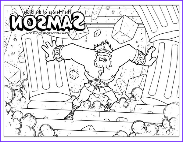 Samson Coloring Pages Beautiful Gallery Bible Coloring Pages by Artist Xero Via Behance