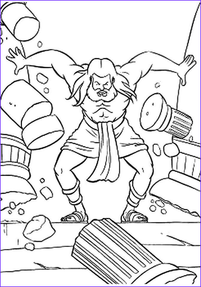Samson Coloring Pages Cool Photos Samson Coloring Pages Samson and Delilah